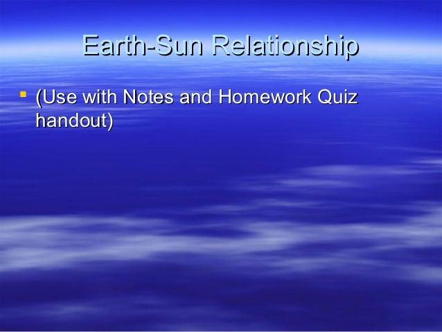 earth sun relationship video ideas