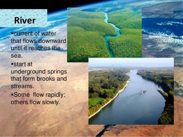 Earth's water forms