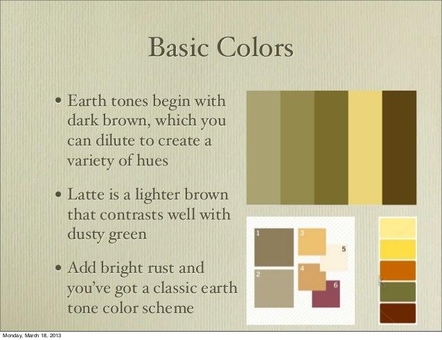 ... 3. Basic Colors U2022 Earth Tones Begin ...