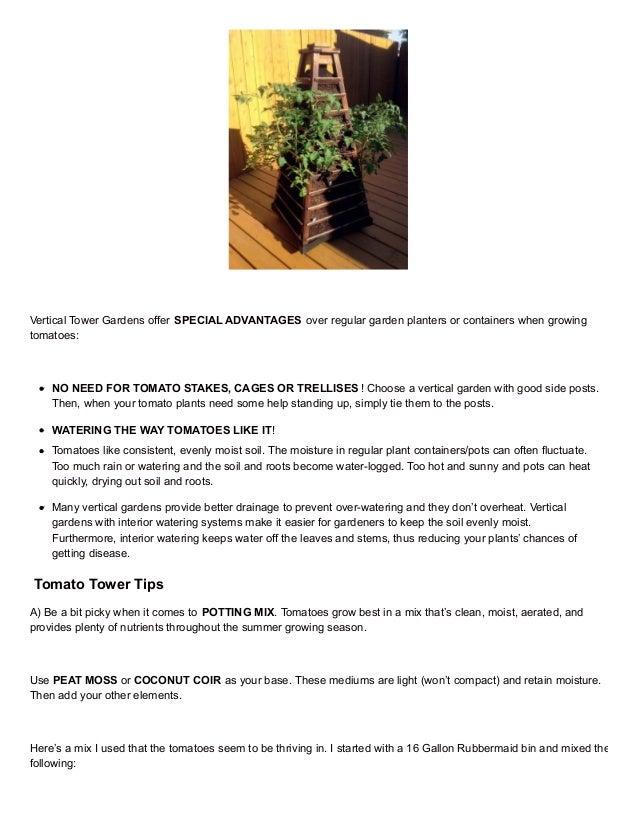 Earthtowergardenblog Com Grow Your Best Tomato Tower