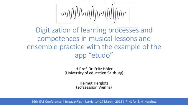 """Digitization of learning processes and competences in musical lessons and ensemble practice with the example of the app """"e..."""