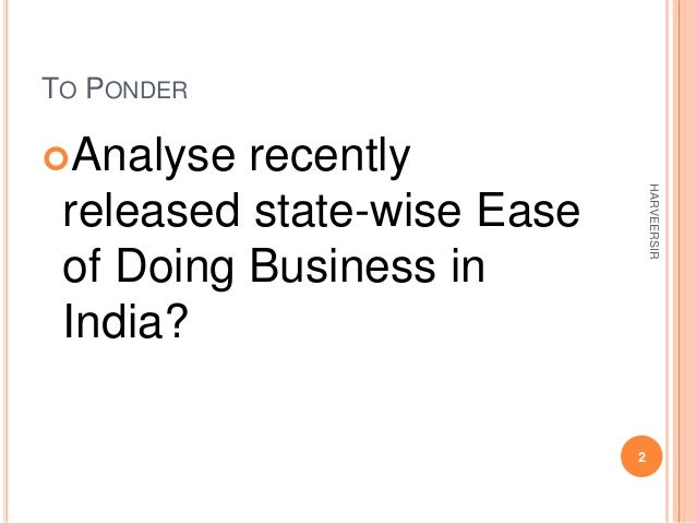 Ease of doing business Slide 2