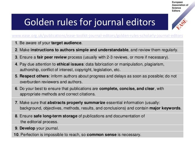 European Association Of Science Editors Ease A Quick Guide To Ease