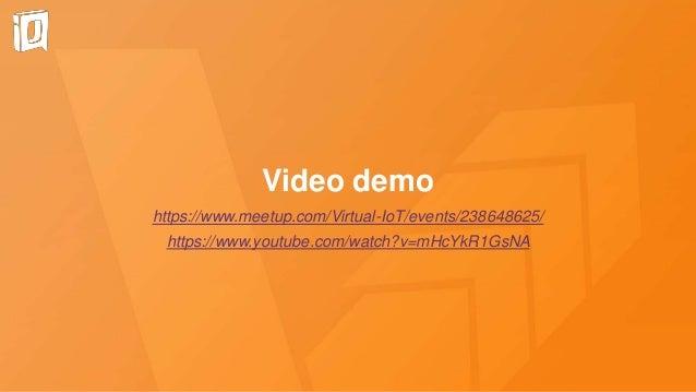 Video demo https://www.meetup.com/Virtual-IoT/events/238648625/ https://www.youtube.com/watch?v=mHcYkR1GsNA