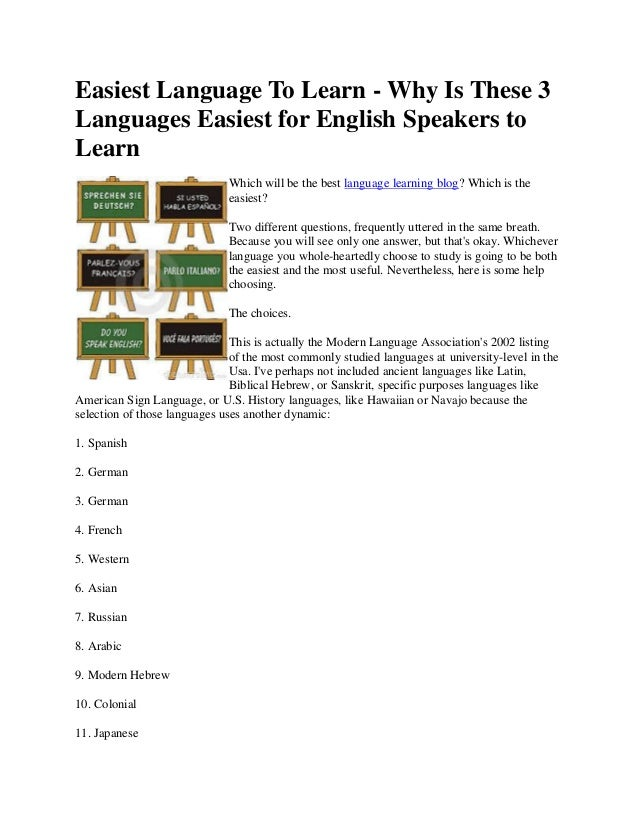 What is the Easiest Language to Learn? - Fluent in 3 ...
