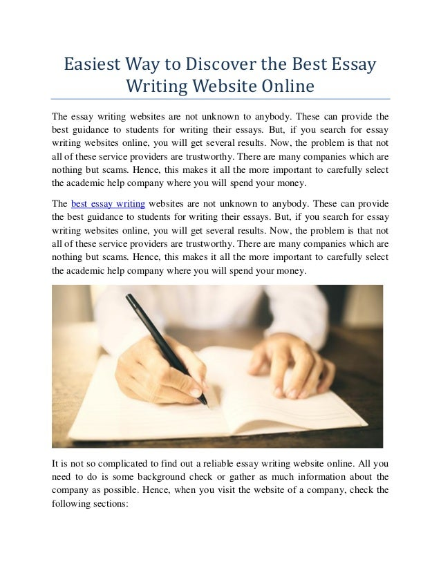 Discover the Best Essay Writing Website Online