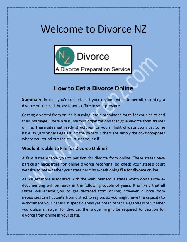 How To Get A Divorce >> Easiest Way To Get A Divorce At Divorcenz