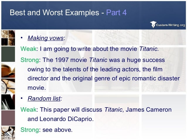 how to write a thesis paper about a movie