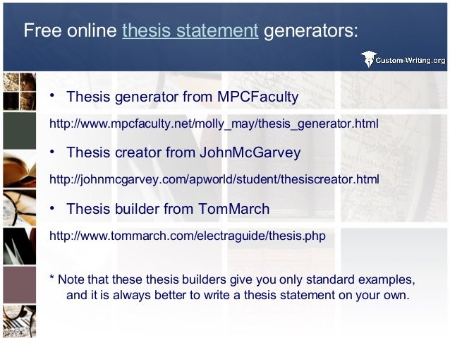 Easiest Way To Write A Thesis Statement Some More Examples Are Here  Free Online Thesis Statement