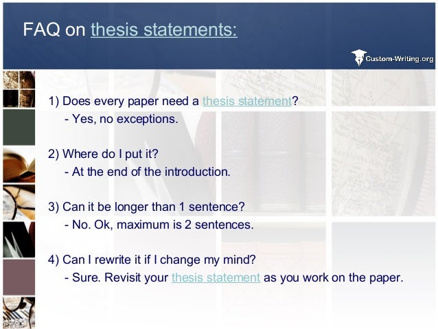 Easiest Way To Write A Thesis Statement  Faq On Thesis Statements