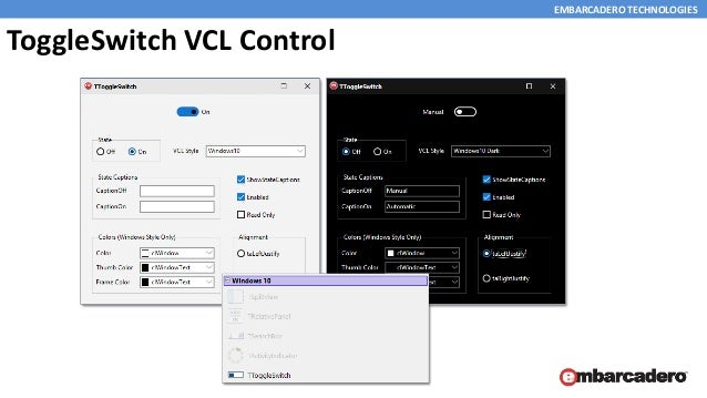 Easily add windows 10 look feel and new components to existing vcl ap…