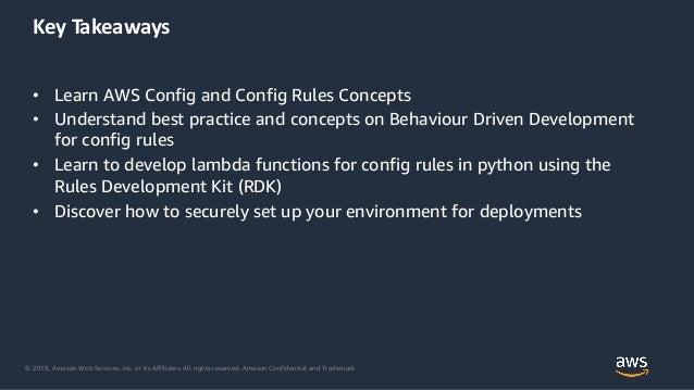 Easily Transform Compliance to Code using AWS Config, Config