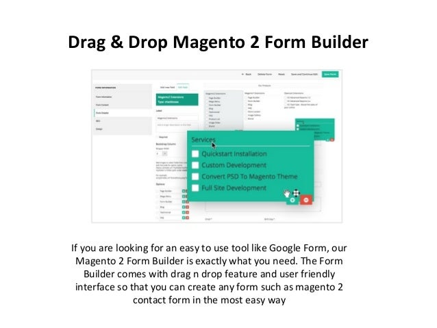 Easily create form with visual content creator &