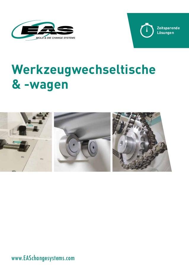 Werkzeugwechseltische & -wagen Zeitsparende Lösungen www.EASchangesystems.com