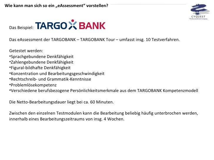 11 - Targobank Bewerbung