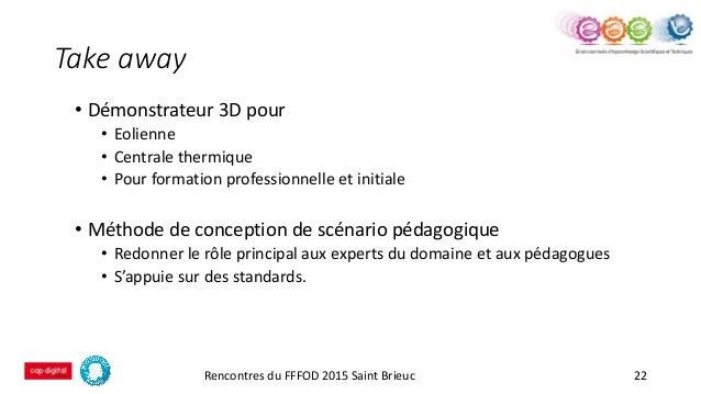 Take away • Démonstrateur 3D pour • Eolienne • Centrale thermique • Pour formation professionnelle et initiale • Méthode d...