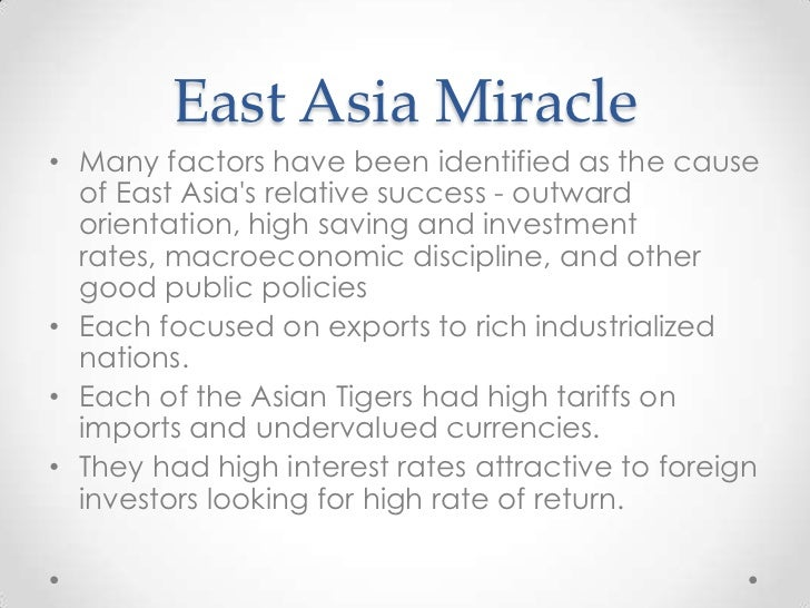 East asian miricle