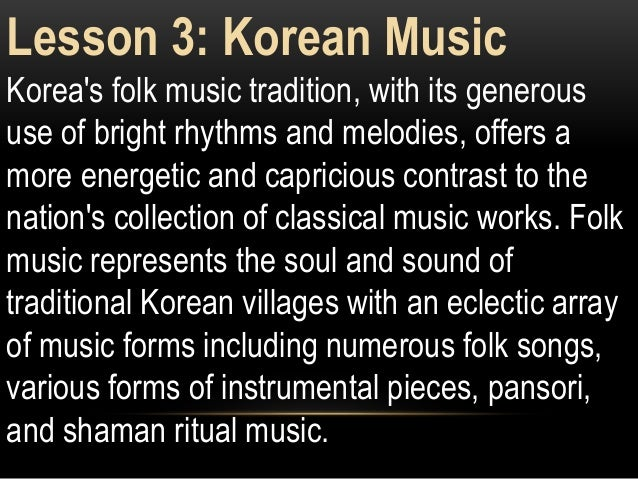 East asian music grade 8 K-12 Music Topic Second Quarter