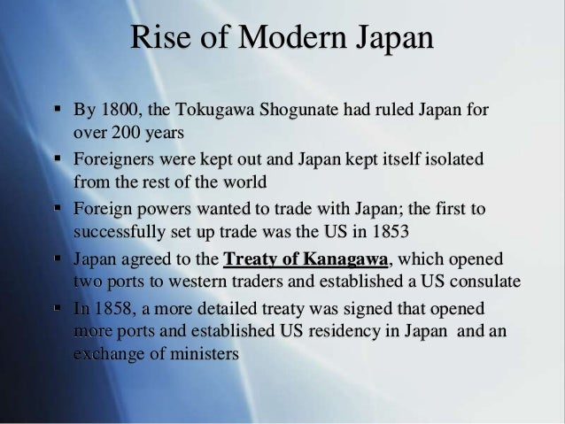 the treaty of kanagawa and the reluctant westernization of japan The treaty of kanagawa it is also called perry convention and it is the first treaty that japan had which examples of westernization does this.