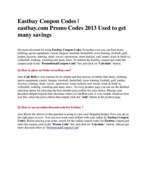 eastbay promo codes & coupons