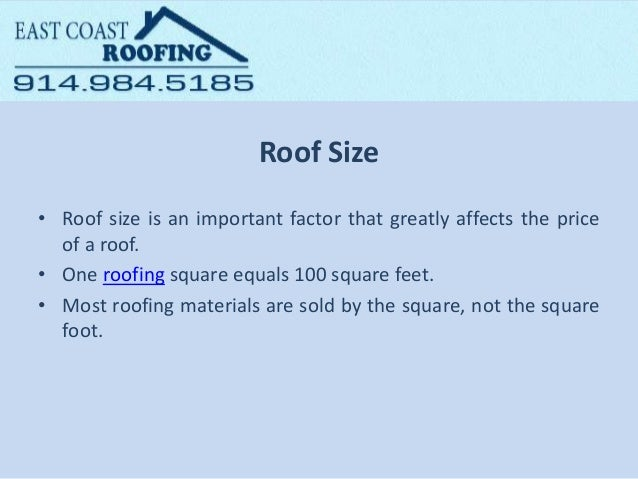 Factors Affecting The Price Of A New Roof