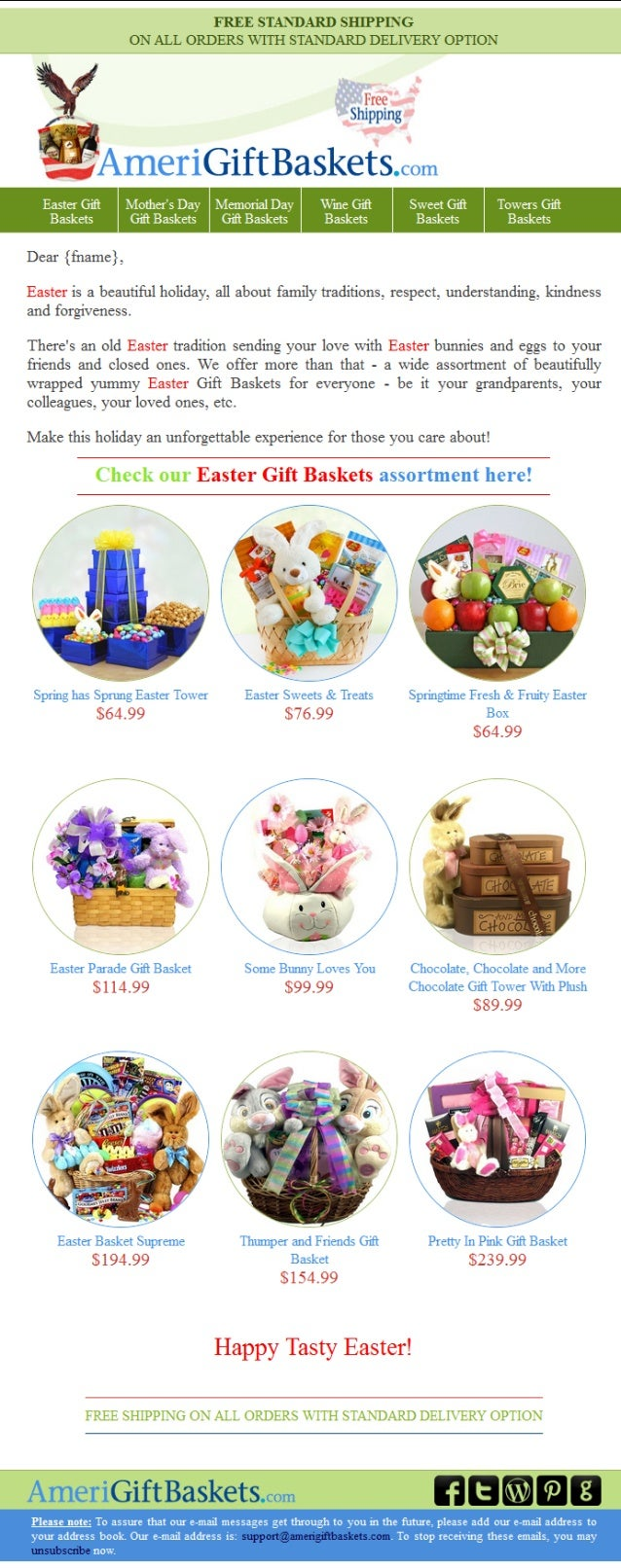 Get a coupon easter5agb to save on easter gift baskets from amerigift negle Images