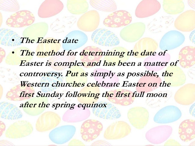 How is the date for easter determined