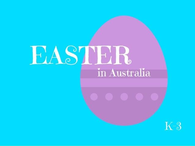 EASTER in Australia K-3