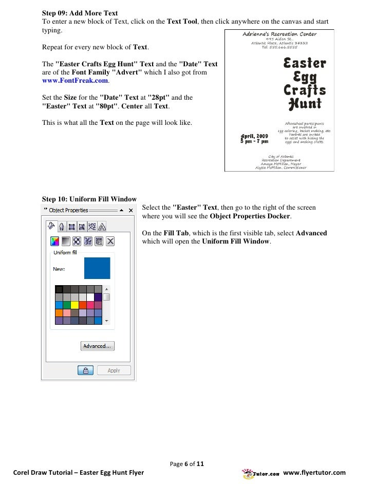 Corel Draw Tutorials: Easter Egg Hunt Flyer