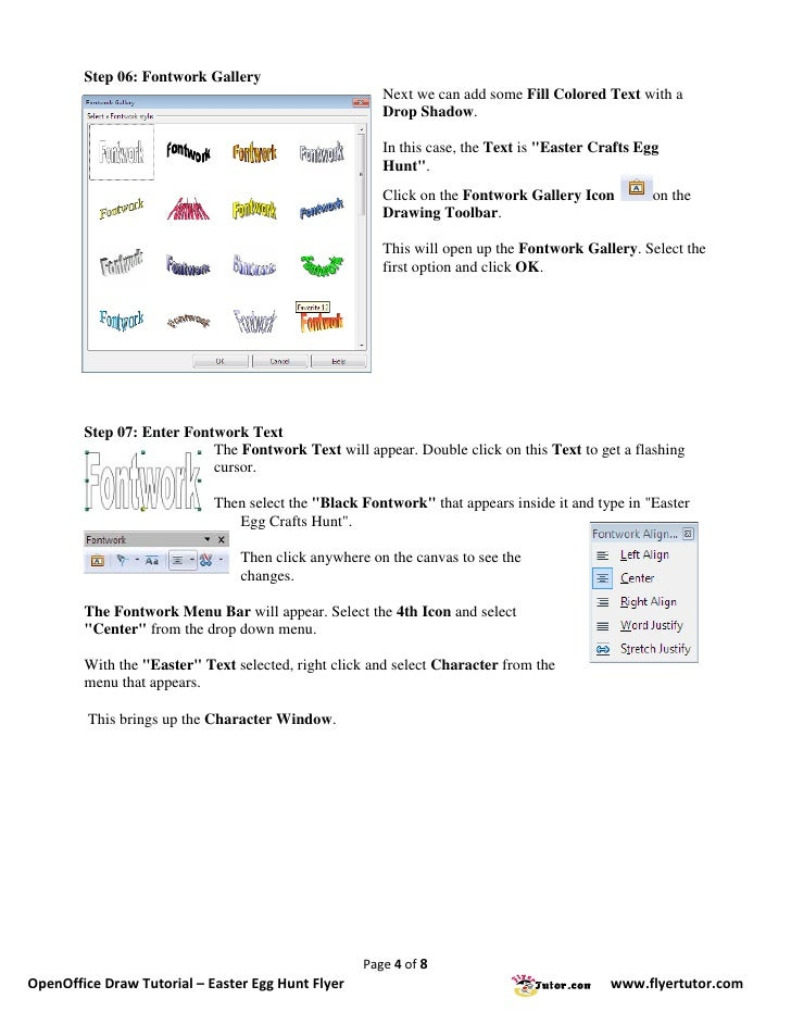 Open Office Drawing Lines : Openoffice draw tutorials easter egg hunt flyer