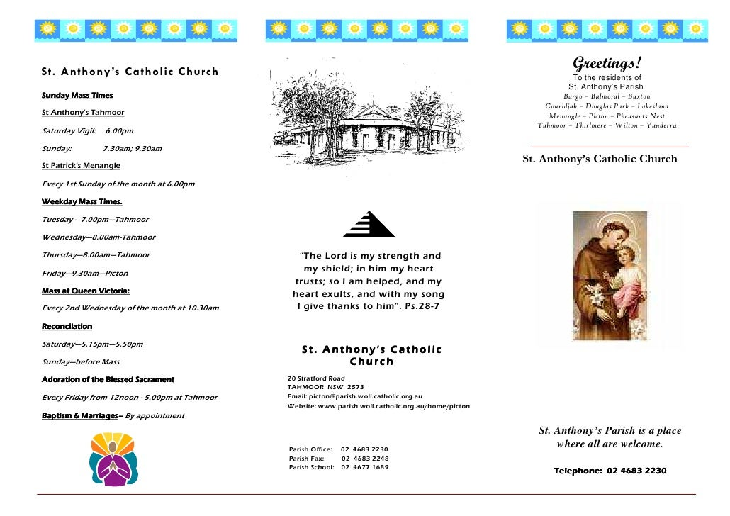 Greetings! St. Anthony's Ca tholic Church                                                                                 ...