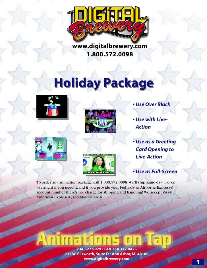 www.digitalbrewery.com                        1.800.572.0098             Holiday Package                                  ...