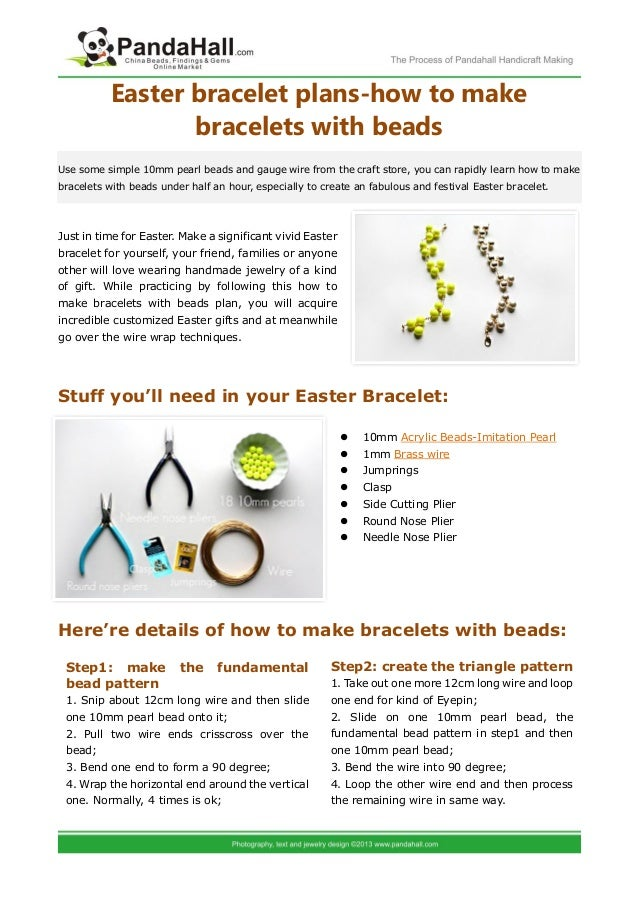Easter bracelet plans how to make bracelets with beads easter bracelet plans how to make bracelets with beadsuse some simple 10mm pearl beads and negle Image collections