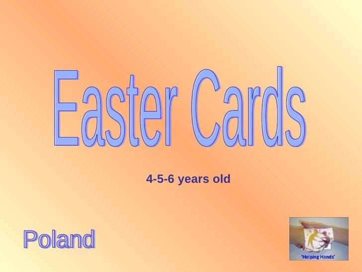Easter Cards Poland 4-5-6 years old