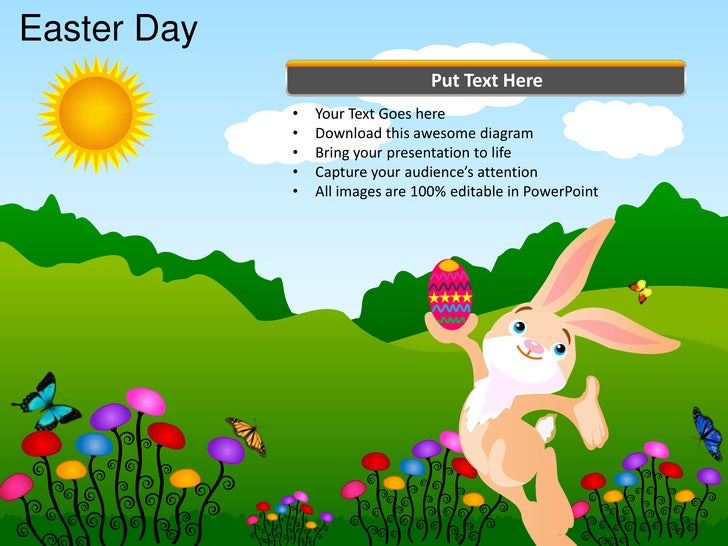 Easter Day                                  Put Text Here             •   Your Text Goes here             •   Download thi...