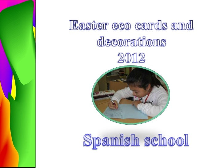 Our students created and  DecoratedEaster cards.