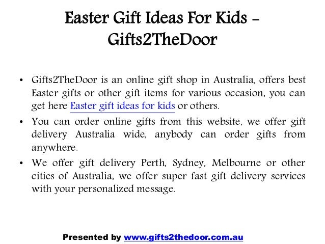 Easter gift ideas online in australia gifts2 thedoor easter negle Choice Image