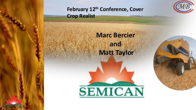 February 12th Conference, Cover Crop Realist Marc Bercier and Matt Taylor