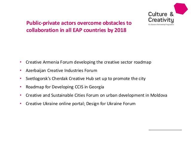 Culture & Creativity EU-Eastern Partnership Programme • Creative Armenia Forum developing the creative sector roadmap • Az...