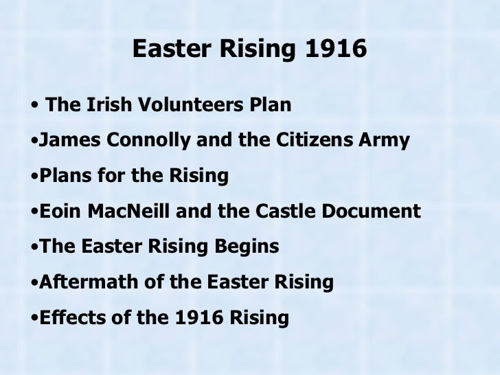 an essay on the easter rising of 1916 Easter rising: summary of the easter rising, the irish republican insurrection against british government in ireland, which began on april 24, 1916, in dublin.