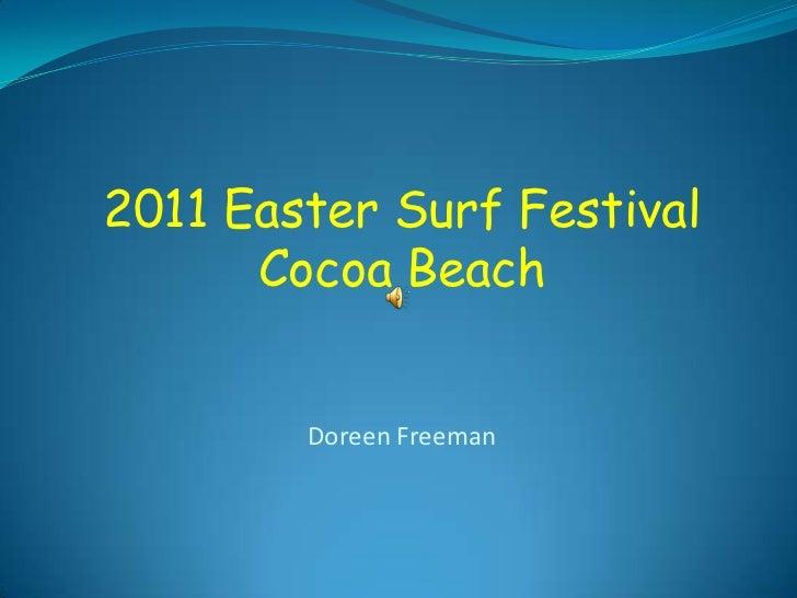 2011 Easter Surf Festival      Cocoa Beach        Doreen Freeman