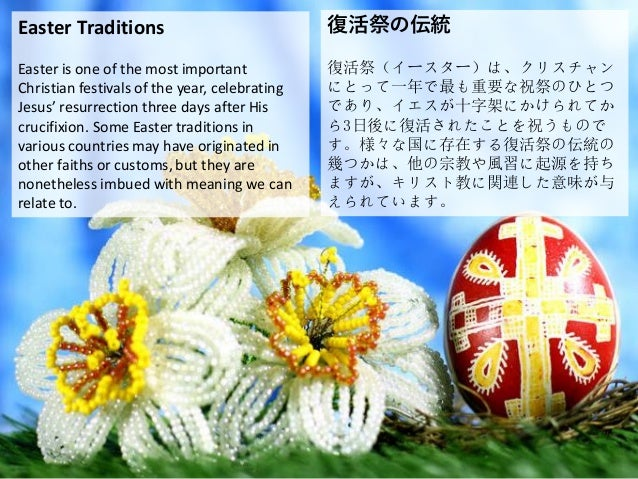 Easter Traditions Easter is one of the most important Christian festivals of the year, celebrating Jesus' resurrection thr...