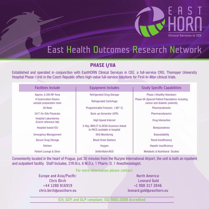 East Health Outcomes Research Network                                                           PHASE I/IIA Established an...