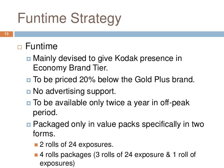 eastman kodak company funtime films essay Eastman kodak company: funtime film 1 diagnose the reasons for kodak's  market share loss and make your assessment of the likely development of the.