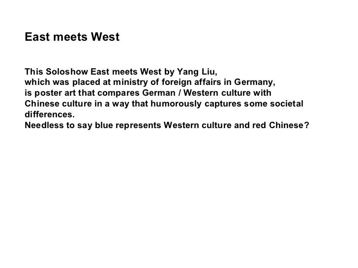 This Soloshow East meets West by Yang Liu,  which was placed at ministry of foreign affairs in Germany,  is poster art tha...