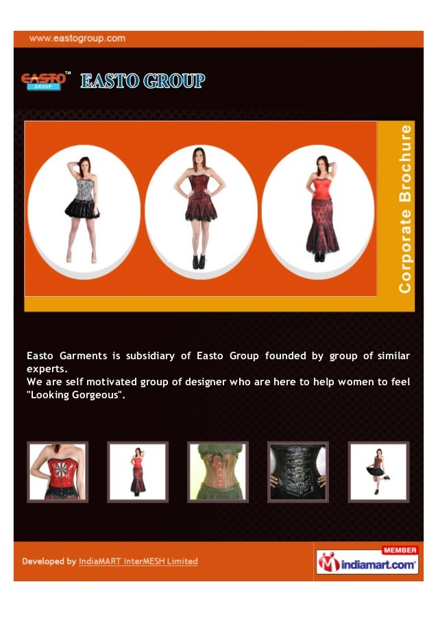 Easto Garments is subsidiary of Easto Group founded by group of similarexperts.We are self motivated group of designer who...