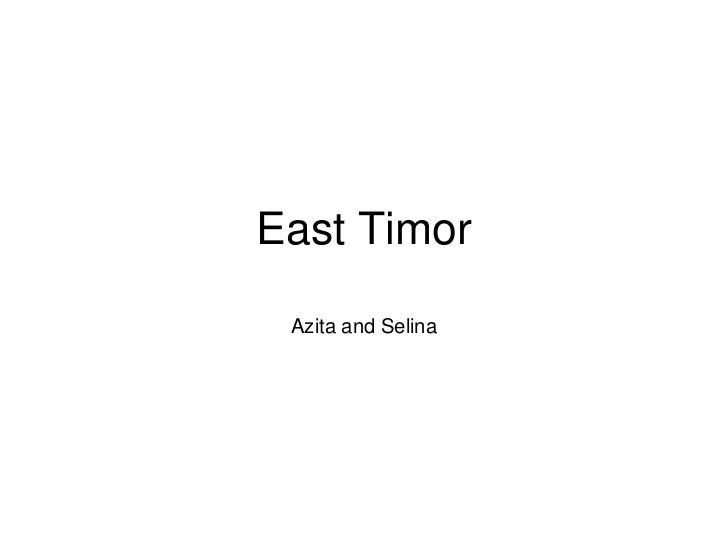 East Timor Azita and Selina