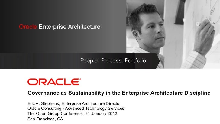 OracleEnterprise Architecture Oracle Enterprise Architecture   <Insert Picture Here>   Governance as Sustainability in the...