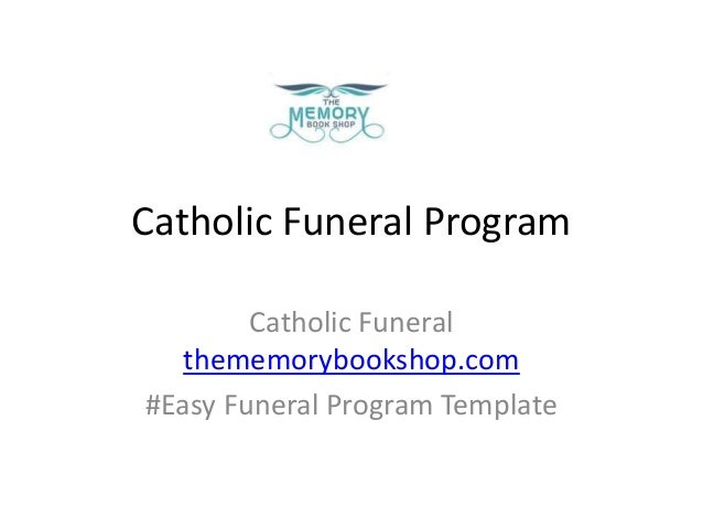 Easy Funeral Program Template Online