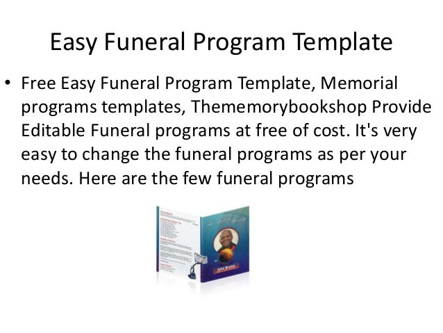 Easy Funeral Program Template Online – Free Template for Funeral Program